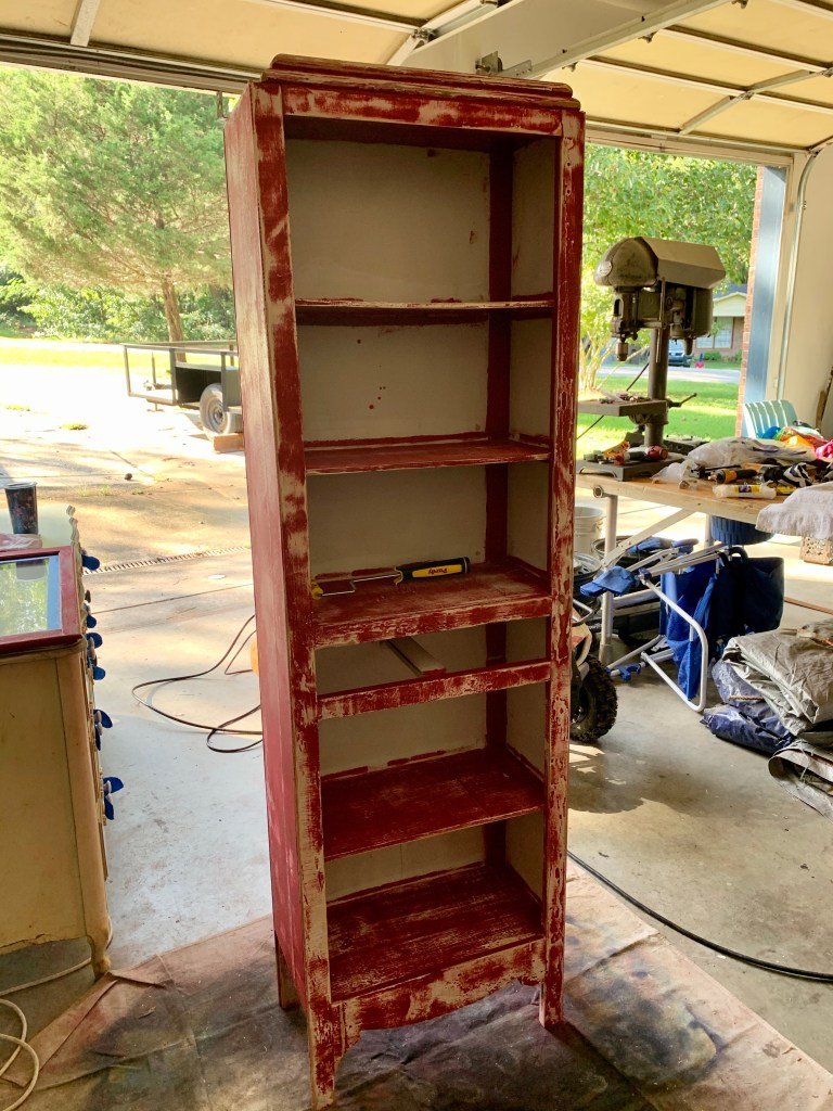 The cabinet after the sanding and cleaning!