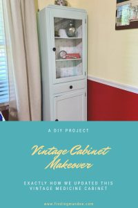 Vintage Cabinet Makeover : A DIY Project | Finding Mandee