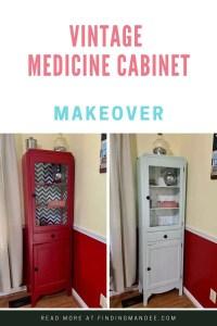 Vintage Medicine Cabinet Makeover | Finding Mandee