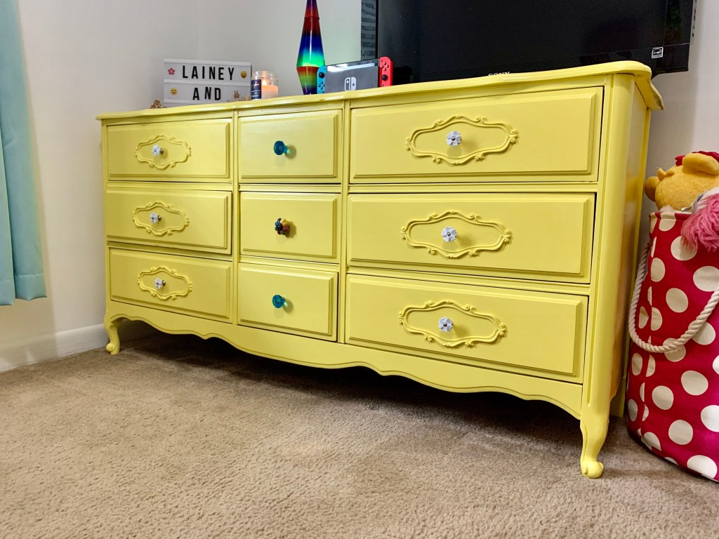 The grungy dresser after pic!