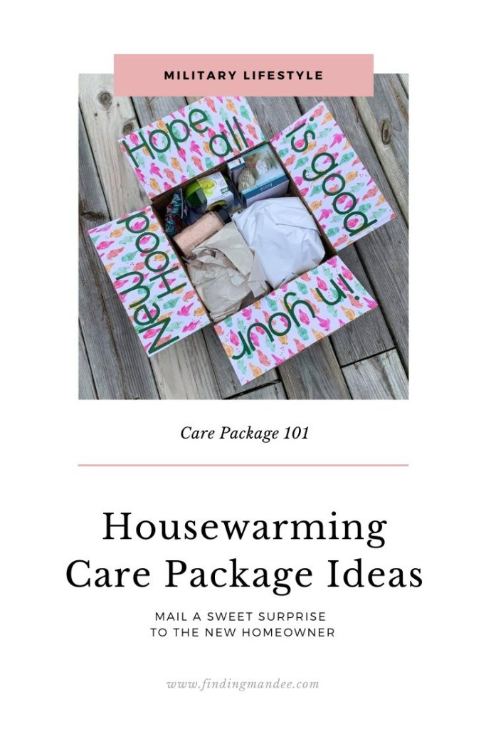 Housewarming Care Package Ideas & Puns | Finding Mandee