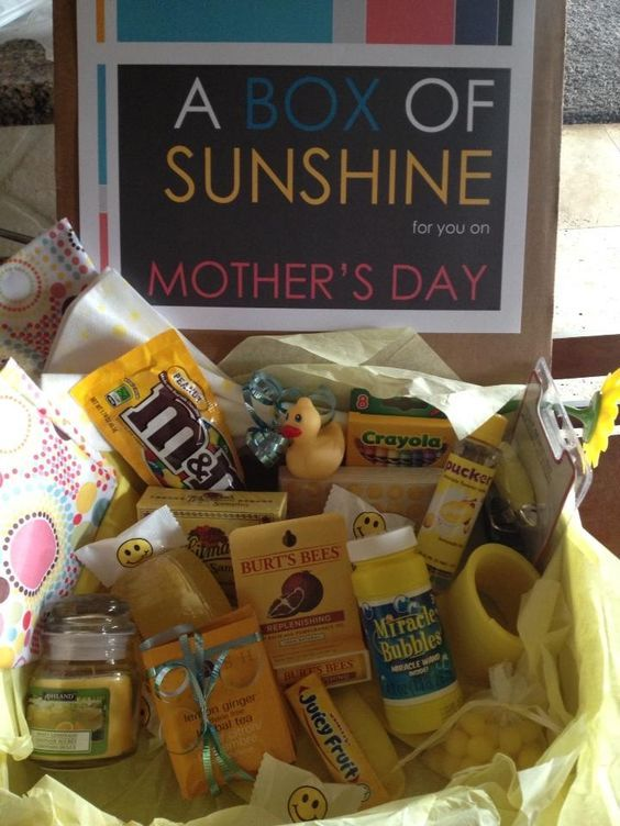 Mother's Day Care Package Idea: A box of sunshine for you on Mother's Day