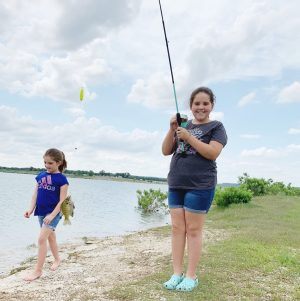 Fishing near Fort Hood at Rivers Bend Park.