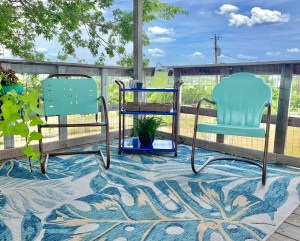 How to Refurbish Vintage Metal Chairs: the After Picture