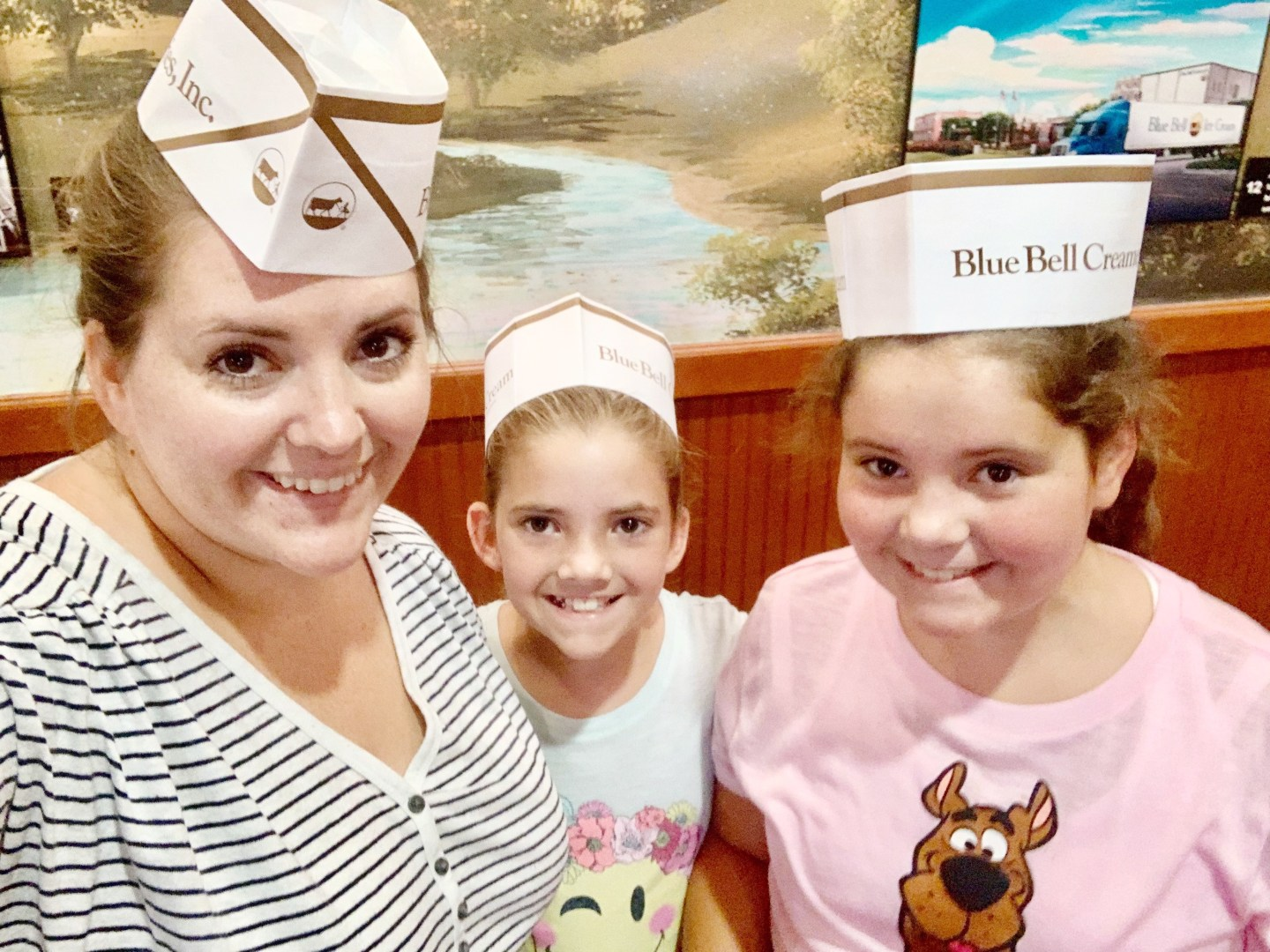 Checking out the Visitor's Center at the Blue Bell Creamery in Brenhmam, Texas.