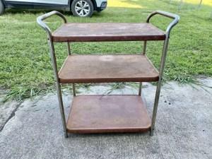 How to refurbish a vintage metal bar cart.