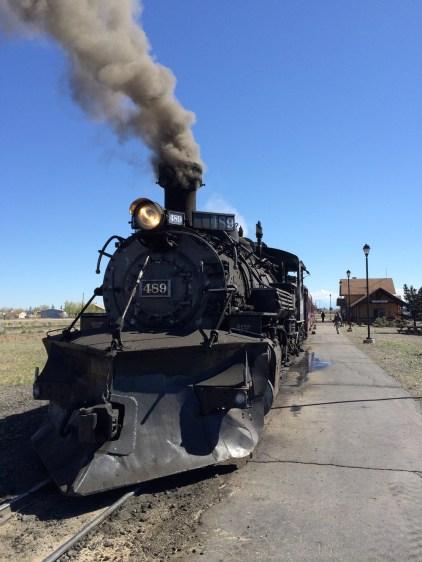 'My' train in Antonito