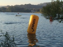 Swim buoy marking finish