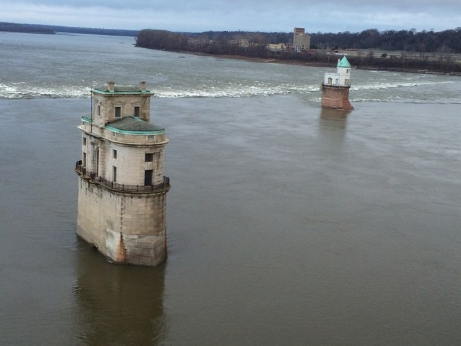 Old water intake towers