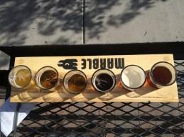 Marble Brewery flight