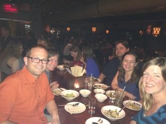 Birthday dinner crowd