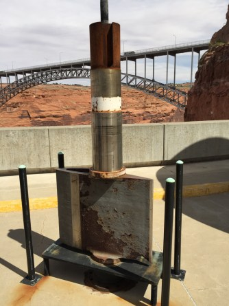 Wicket gate that controls water flow into turbine. Each turbine has several of these.