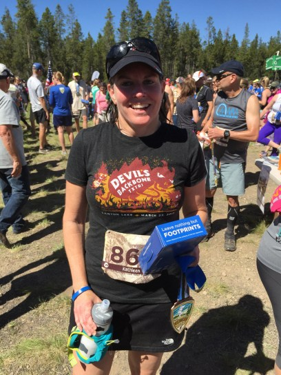 Finished with her second half marathon