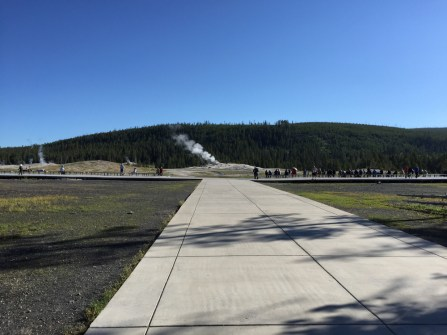 Old Faithful from the Visitor Education Center