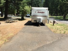 Typical RV site (not sure why I didn't take a picture of our actual site)