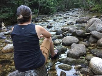 Kathy enjoying Indian Creek