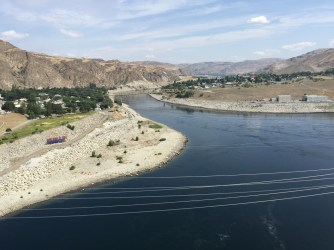 Columbia River downstream of dam