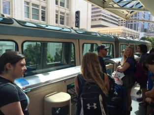 Catching the monorail