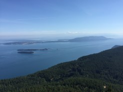 View east to mainland from Mount Constitution