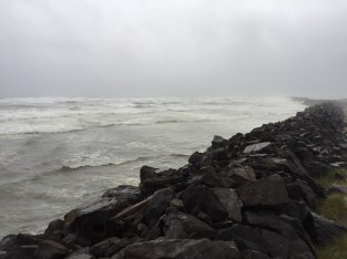 An angry ocean at the south jetty