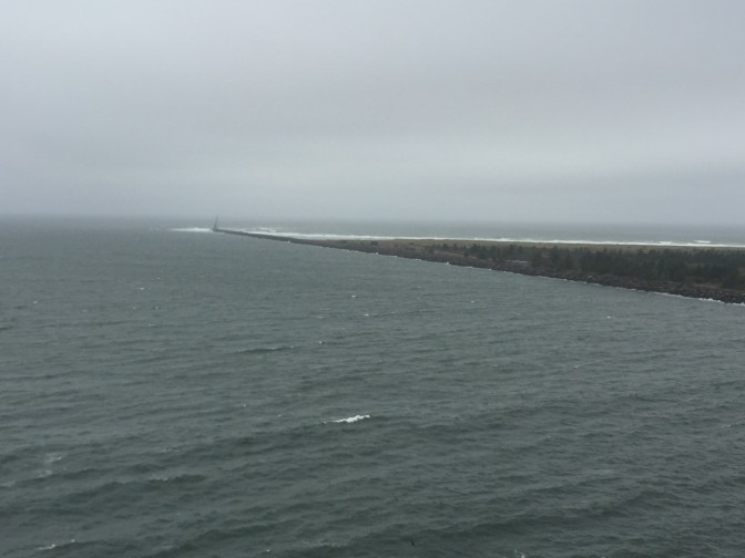 North jetty from the lighthouse