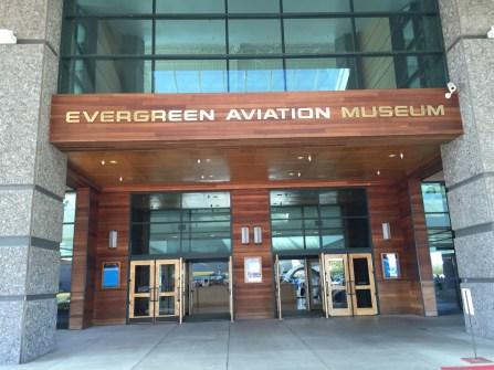 Aviation museum entrance