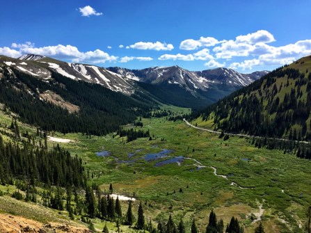On the back side (Aspen side) of Independence Pass.
