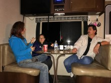 """Kelly, Viki and Dean (my bro-in-law) playing """"get to know me"""""""