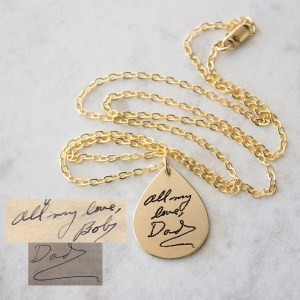 Necklace with Handwriting