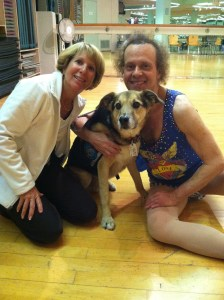 Richard Simmons With Mom and Dante
