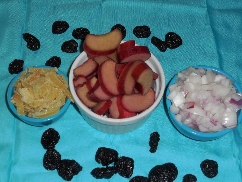 Dry Ingredients for Rhubarb Chutney
