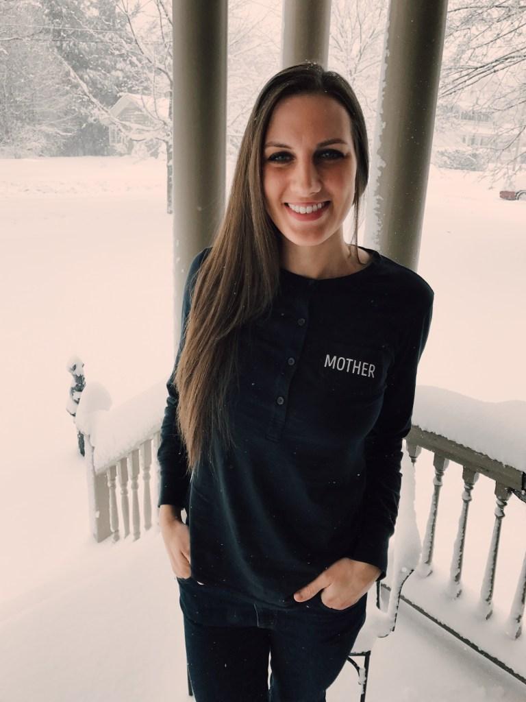 Motherhood and snow