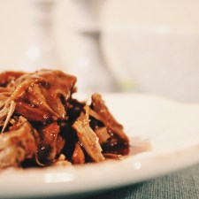 Signature Dish: Braised Beef with a Red Wine Reduction Sauce