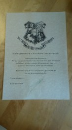 The invitations were Hogwarts letters