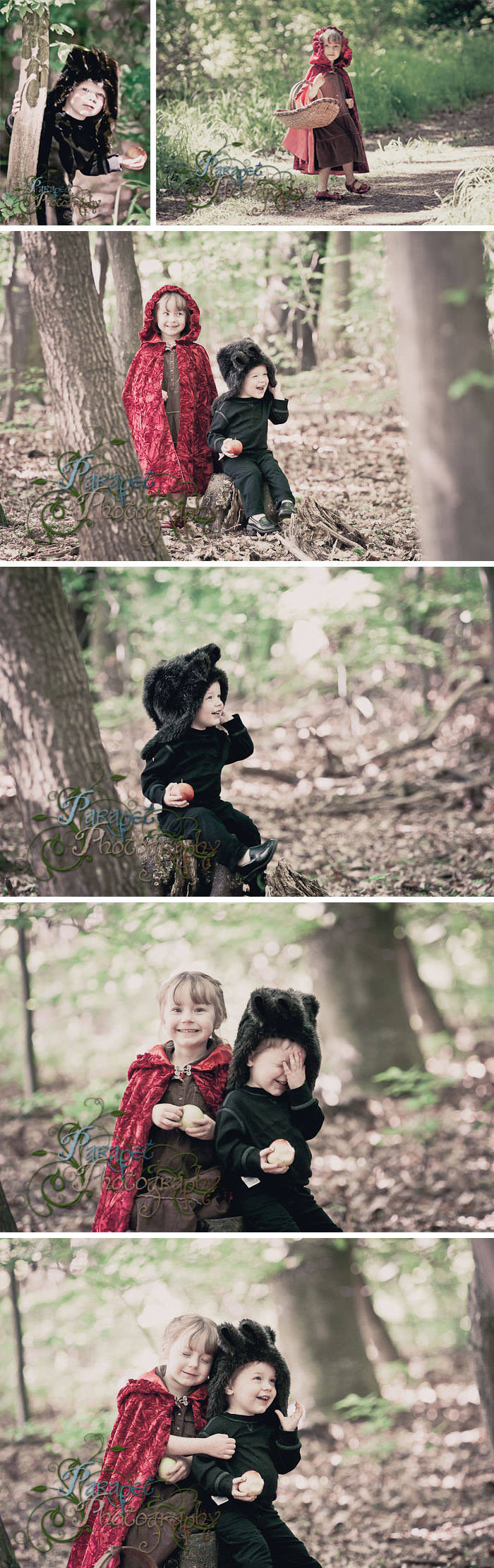 Little Red Riding Hood and the Big Bad Wolf themed photo shoot tutorial for kids