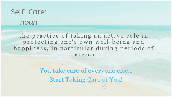 self-care definition on image of beach