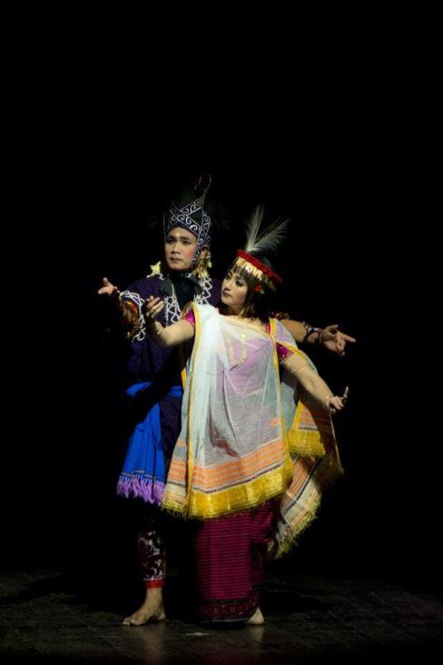 Tradition Attire in love, The photo was taken during treatre play which based on the folktales of Manipur