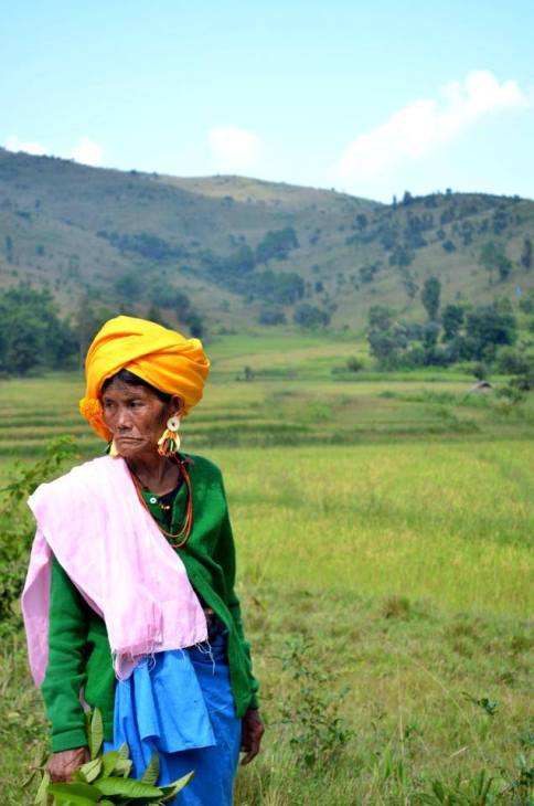 """Natural but luxury, """"Beauty lies in the eye of beholder"""". The lady in the pic is a Maring tribal women, on a way to attend their biggest traditional festival lamhai/lamphanba. Even though she has not wear any jewellery, she is wearing the best lusxury dress available in the Maring tradition."""
