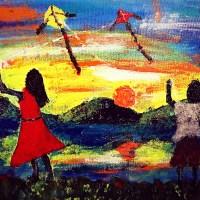 Nanao's telangga, an acrylic painting