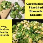 These pan caramelized, shredded brussels sprouts are delicious, fast, easy, and SO healthy! Great vegetable side dish, one of the best ways to eat brussels sprouts! #brusselssprouts #vegetable #sidedish #recipe