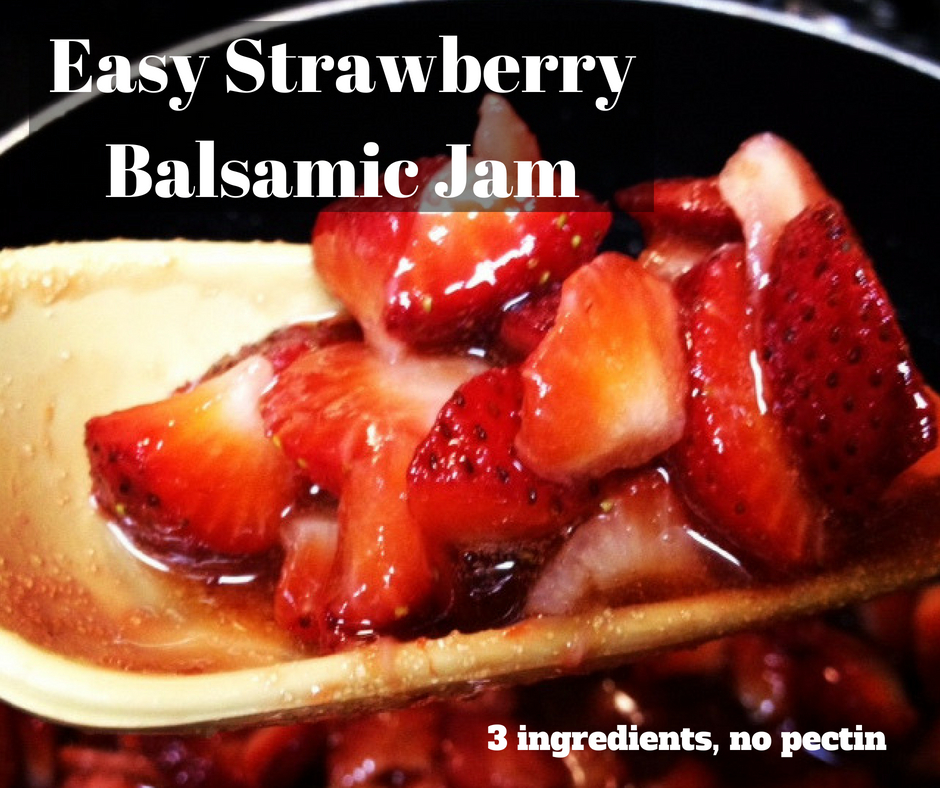 Easy, Delicious Balsamic Strawberry Jam pinterest image