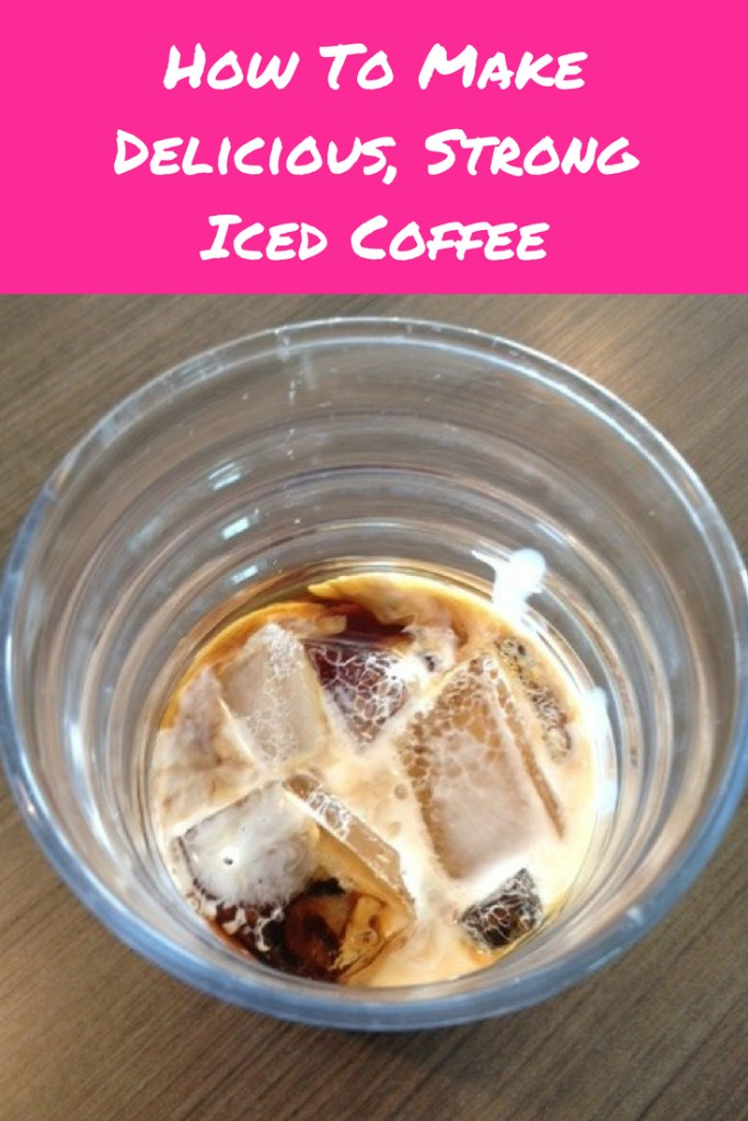Pioneer Woman's Awesome Iced Coffee Recipe pinterest image