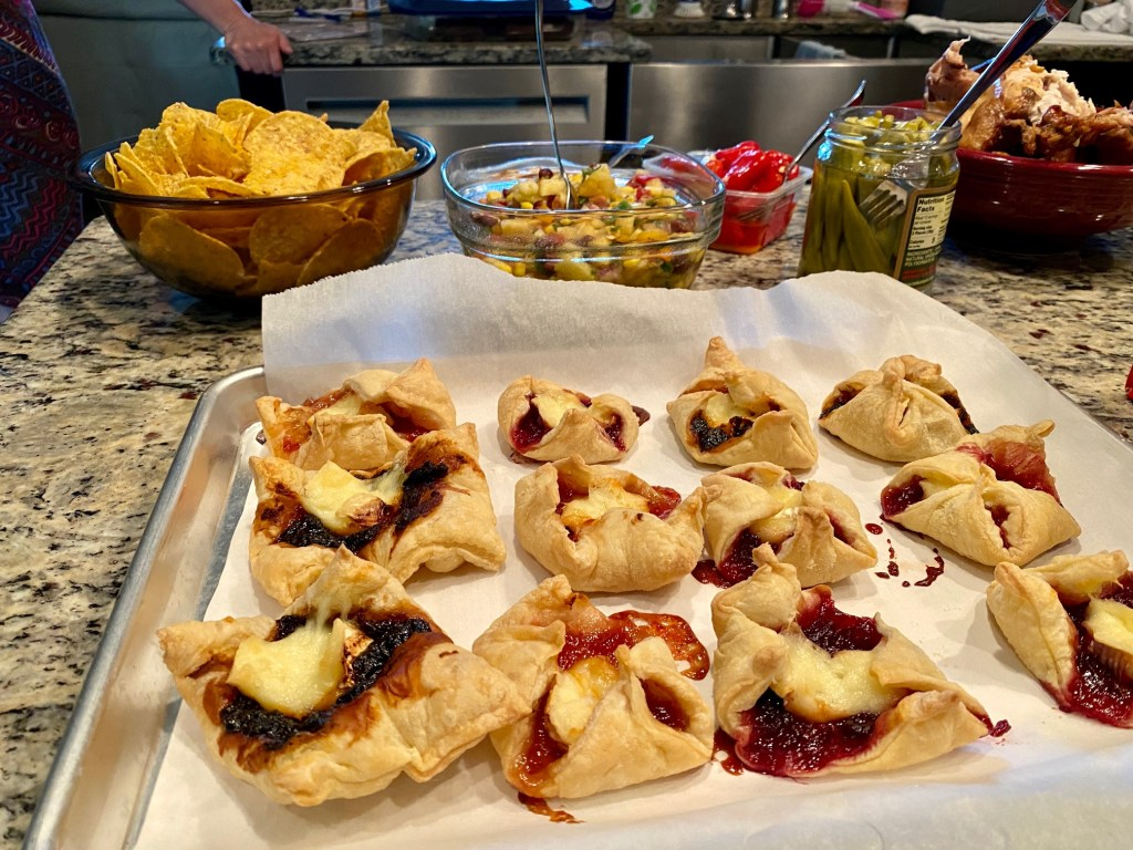 We had these delicious brie & jam bites for a girls' night!
