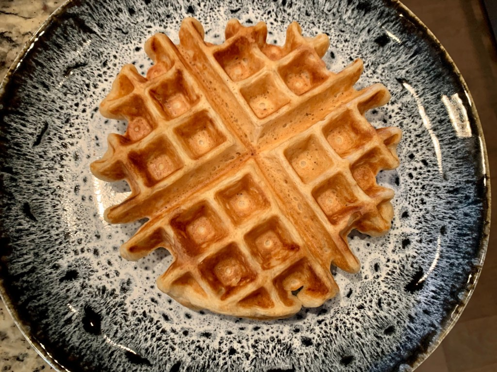 Perfect no-fuss buttermilk belgian waffles, only 5 minutes to whip up