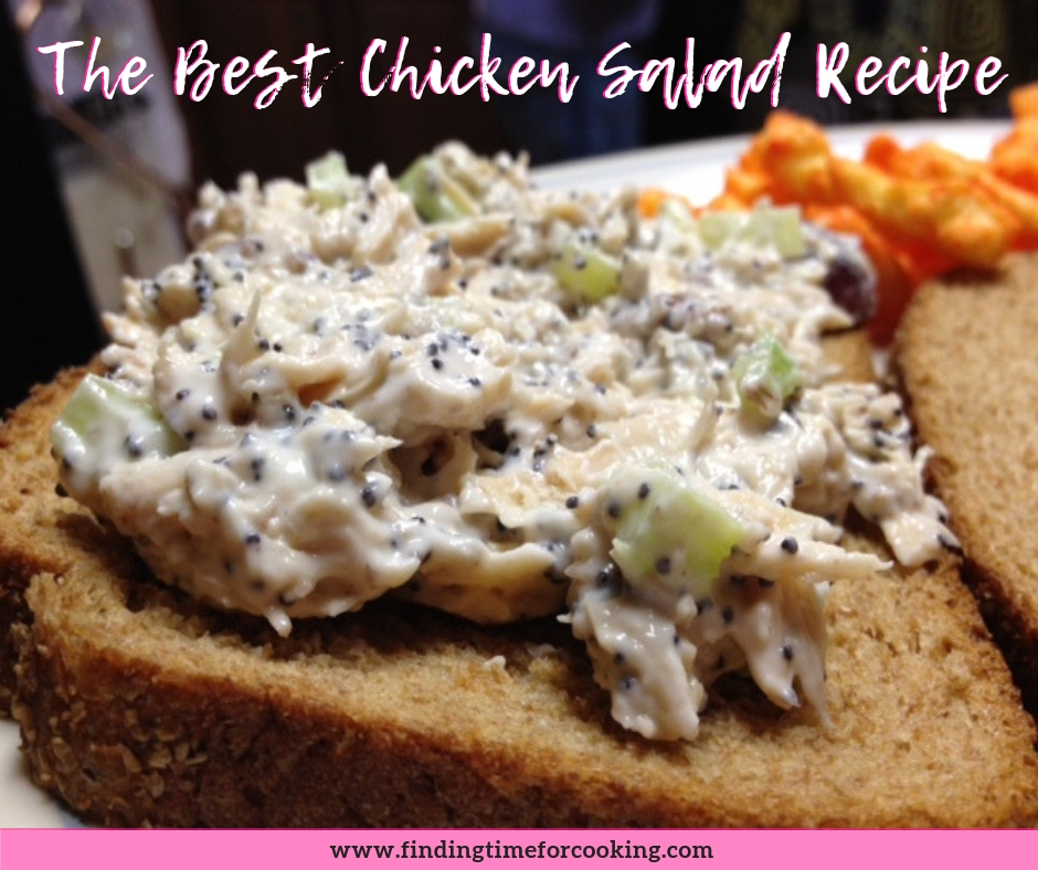 The best chicken salad recipe ever - Pinterest overlay