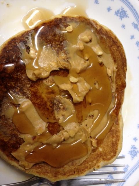 cinnamon polenta pancakes