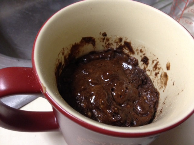 Easy Dark Chocolate Lava Mug Cake | finding time for cooking blog