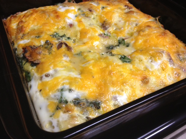 Kale, Bacon, & Egg Casserole | perfect brunch recipe or breakfast for a crowd  | finding time for cooking blog