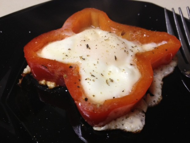 Eggs in Peppers | finding time for cooking blog