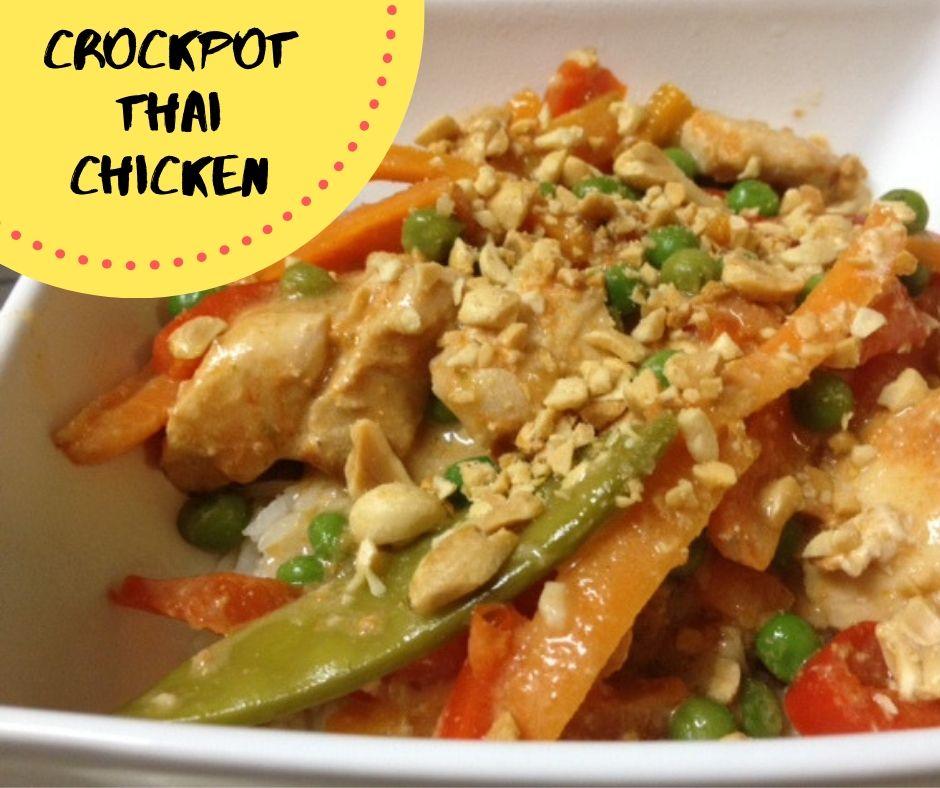 Crockpot Thai Chicken - Pinterest overlay